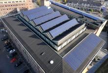 Zonnestroomsystemen toegepast op het Stadhuis van Helmond.