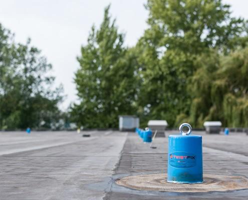 AaboSafe dakveiligheidsproducten bedrijfspand Dordrecht permanent ankerpunt