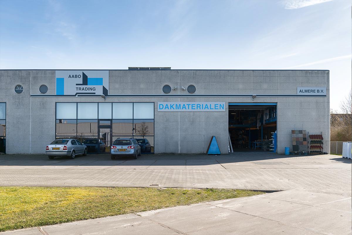 De vestiging van Aabo Trading Almere.