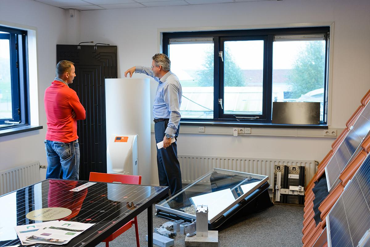 De showroom van Aabo Trading Arnhem