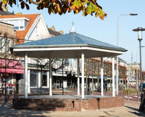 Muziekpaviljoen voorzien van Rheinzink losagnes en zetwerk - Santpoort-Noord
