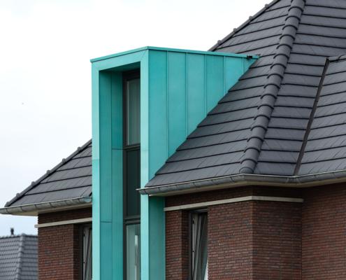Geprepatineerd koperen gevelbekleding - Den Haag