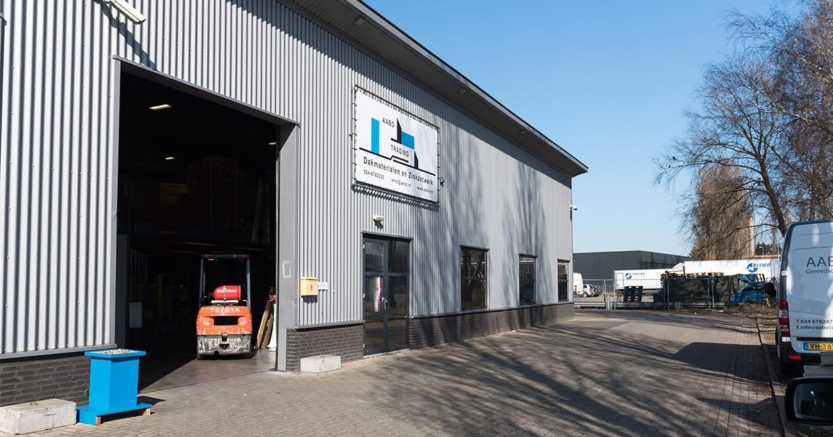 De vestiging van Aabo Trading Eindhoven