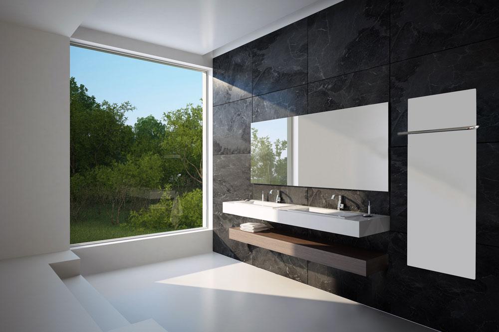 Infraroodpaneel in de badkamer.