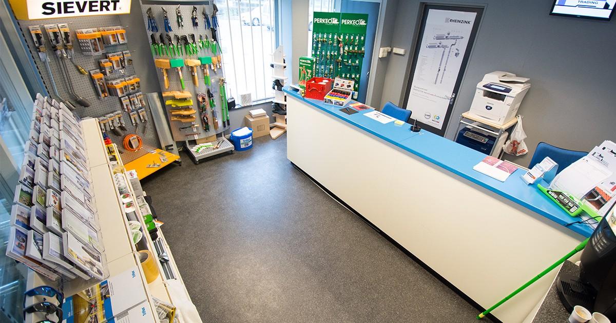 De shop van Aabo Trading Maastricht.