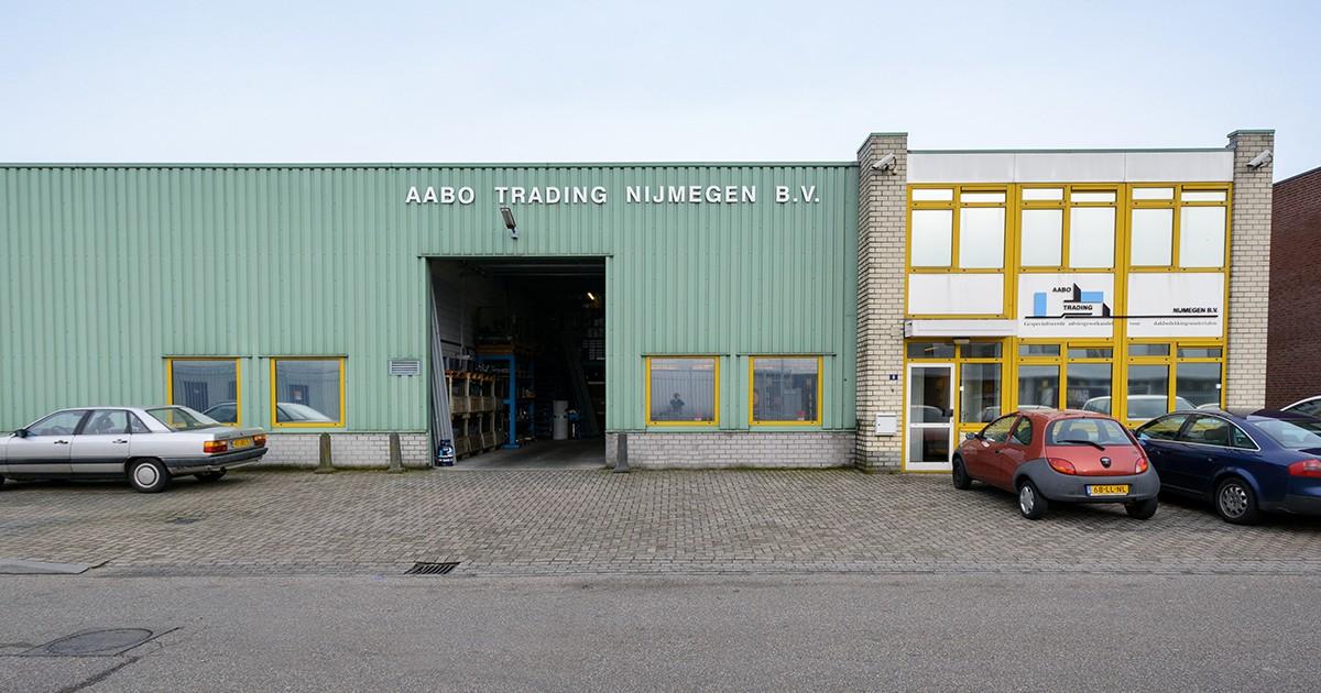 De vestiging van Aabo Trading Nijmegen