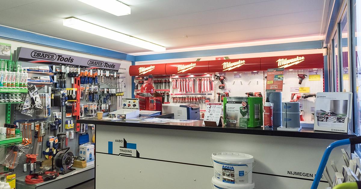 De shop van Aabo Trading Nijmegen.