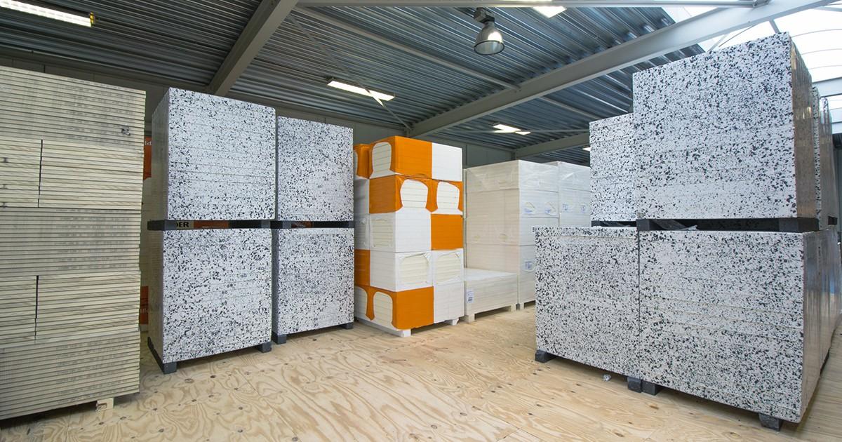 Het magazijn van Aabo Trading Nijmegen.