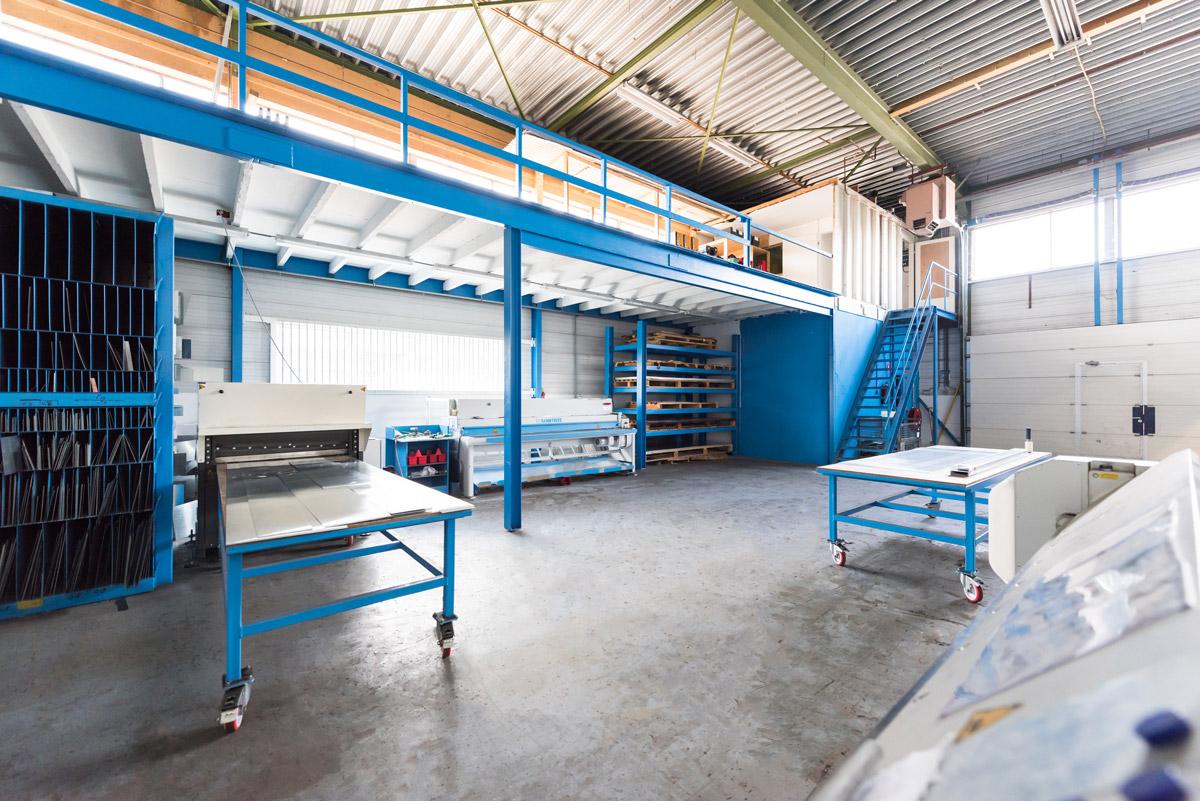 De zetterij van Aabo Trading Zoetermeer.