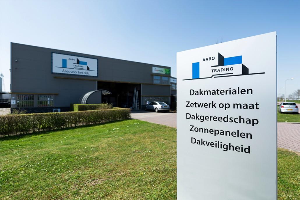 De vestiging van Aabo Trading Zwolle.