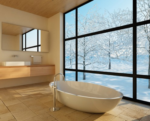 infraroodverwarming in de badkamer